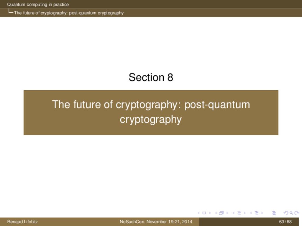 Quantum computing in practice The future of cry...
