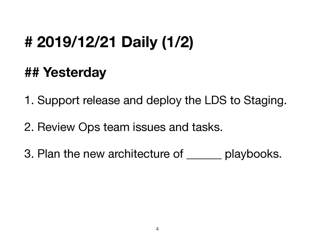# 2019/12/21 Daily (1/2) ## Yesterday 1. Suppor...