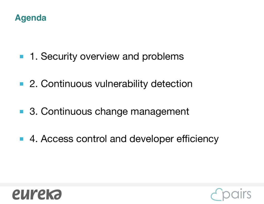 Agenda ■ 1. Security overview and problems  ■ 2...