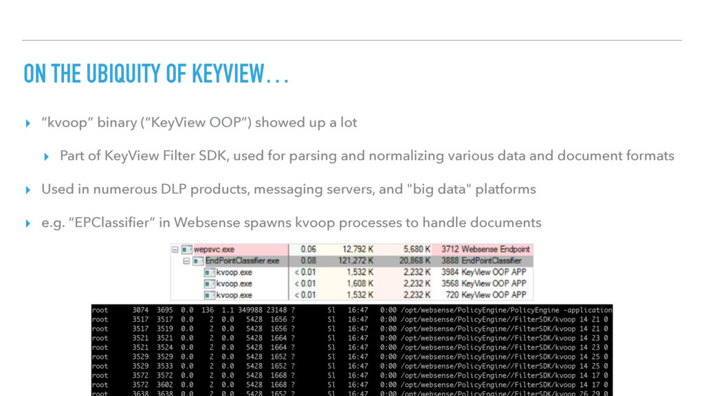 "ON THE UBIQUITY OF KEYVIEW… ▸ ""kvoop"" binary (""..."