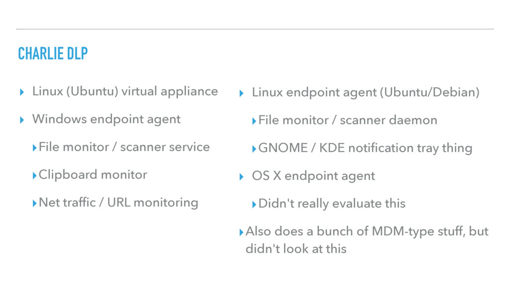 CHARLIE DLP ▸ Linux (Ubuntu) virtual appliance ...