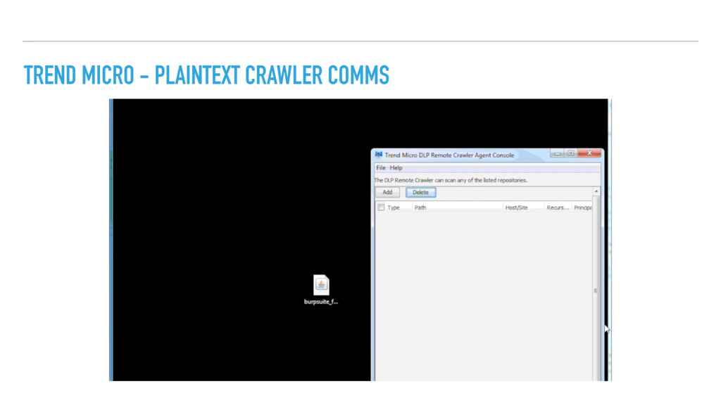 TREND MICRO - PLAINTEXT CRAWLER COMMS