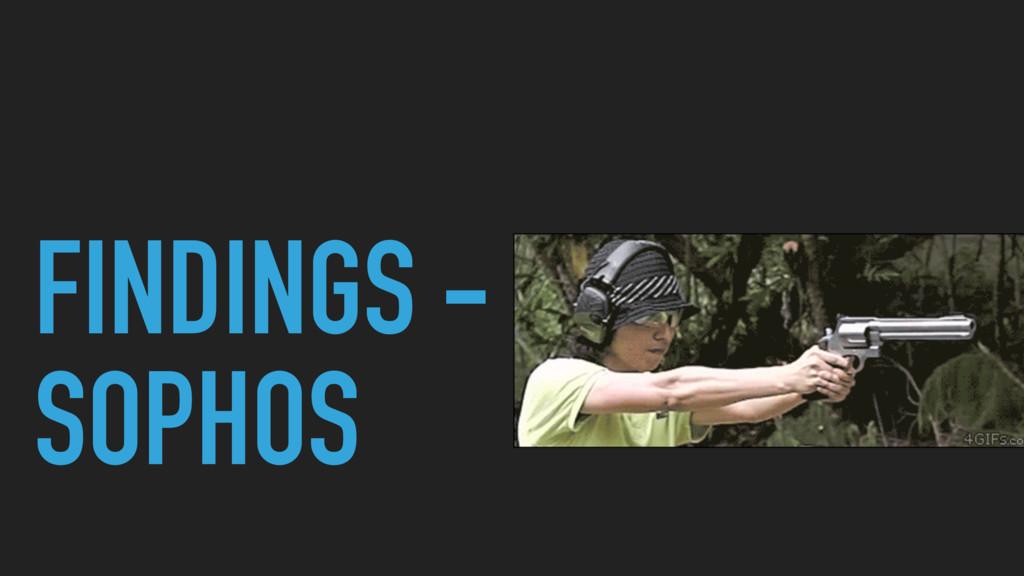 FINDINGS - SOPHOS