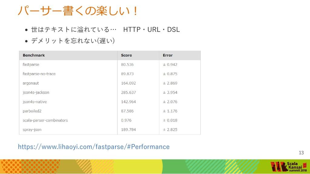 パーサー書くの楽しい! 世はテキストに溢れている… HTTP・URL・DSL デメリットを忘れ...