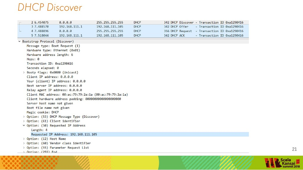 DHCP Discover 21