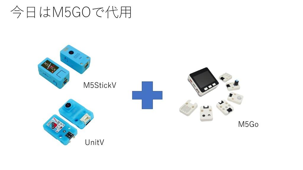今日はM5GOで代用 M5Go M5StickV UnitV