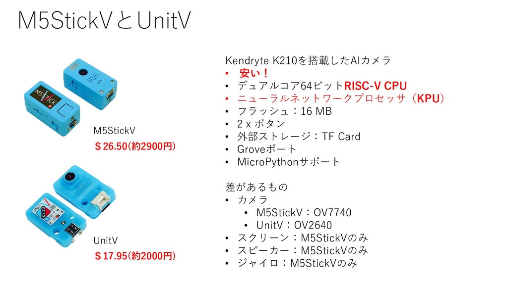 M5StickVとUnitV Kendryte K210を搭載したAIカメラ • 安い! • ...
