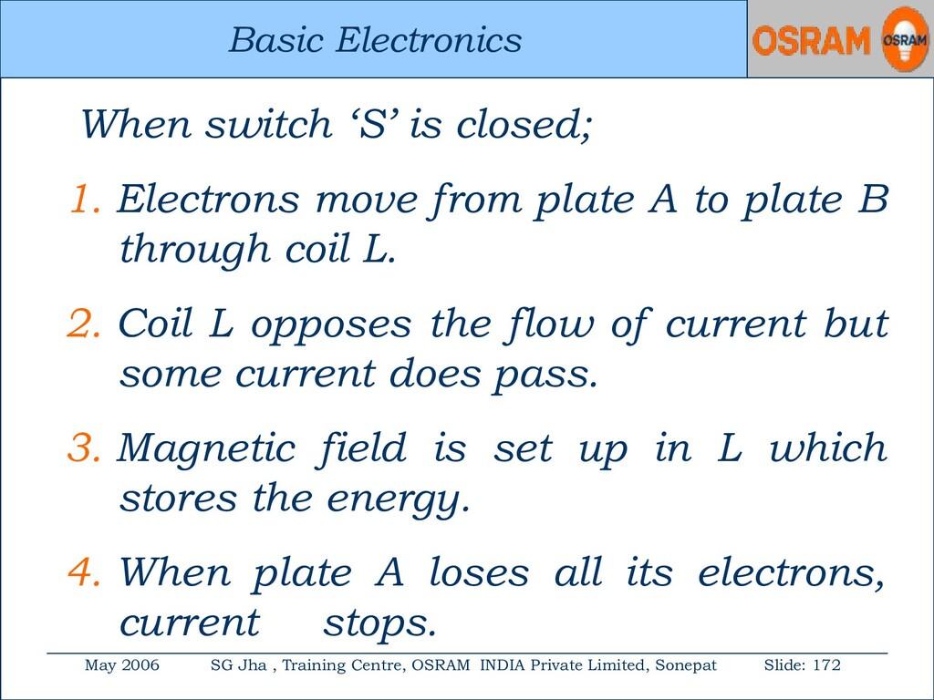 Basic Electronics May 2006 SG Jha , Training Ce...