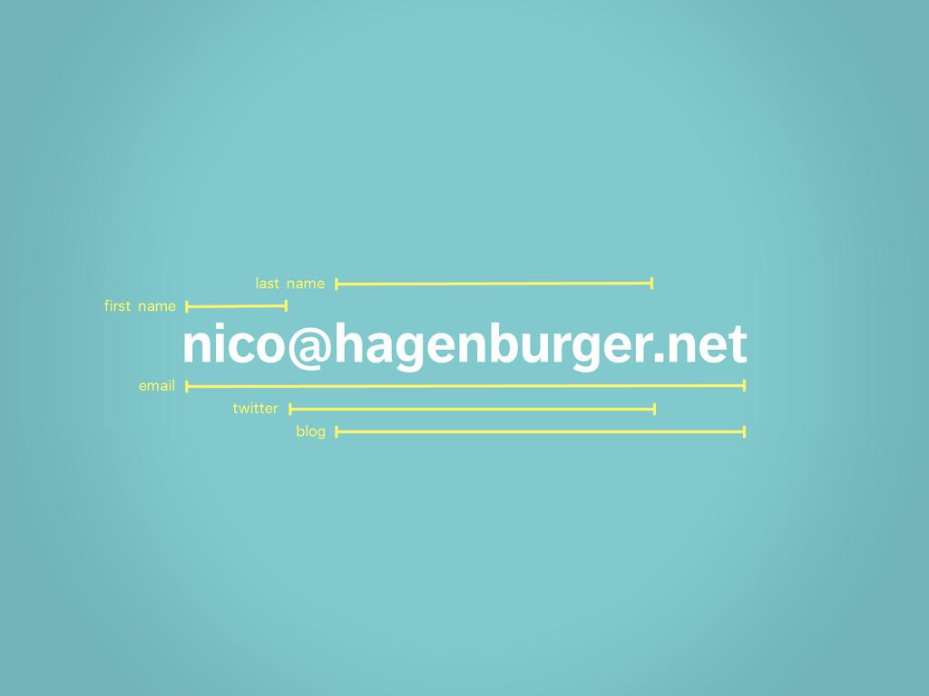 nico@hagenburger.net email twitter blog first n...