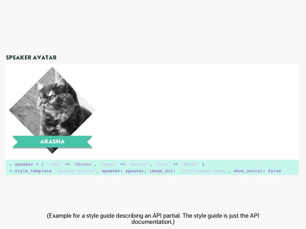 (Example for a style guide describing an API pa...
