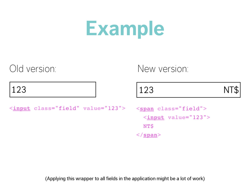 Example Old version: New version: (Applying thi...