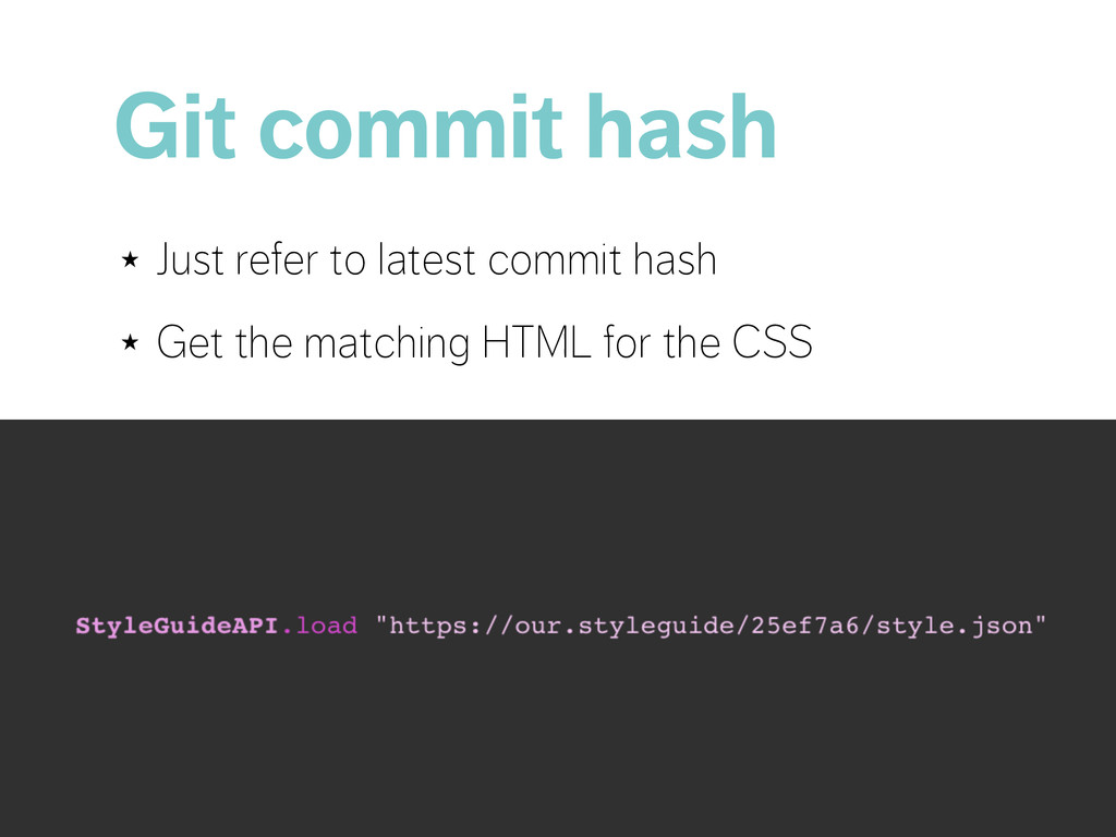 Git commit hash ★ Just refer to latest commit h...