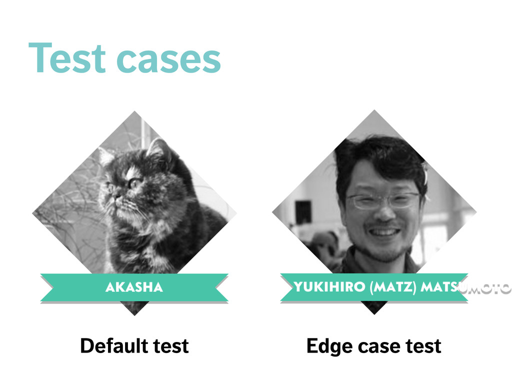 Default test Edge case test Test cases