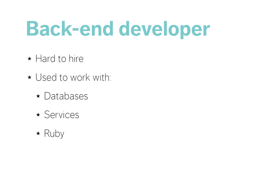 Back-end developer ★ Hard to hire ★ Used to wor...