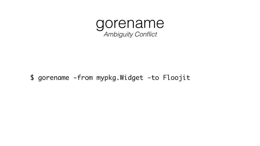 gorename $ gorename -from mypkg.Widget -to Floo...