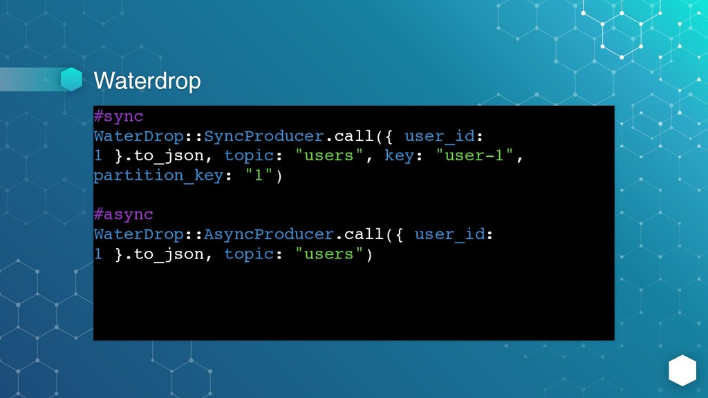 Waterdrop #sync WaterDrop::SyncProducer.call({ ...