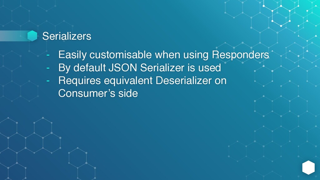 Serializers - Easily customisable when using Re...
