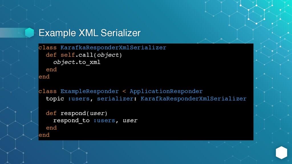 Example XML Serializer class KarafkaResponderXm...