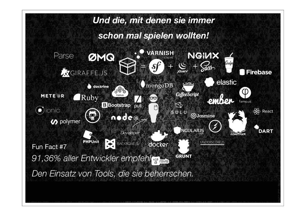 Developer + + = Fun Fact #7 91,36% aller E...