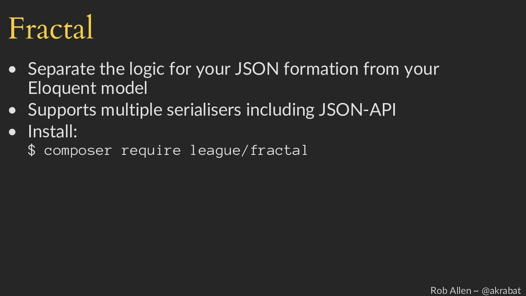 Fractal • Separate the logic for your JSON form...