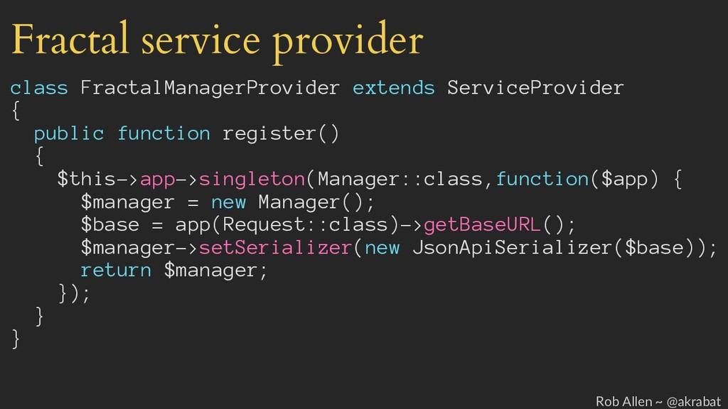 Fractal service provider class FractalManagerPr...