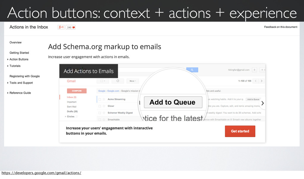 Action buttons: context + actions + experience ...