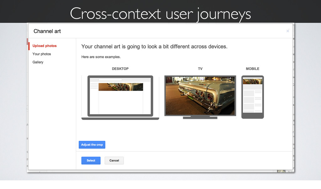 Cross-context user journeys