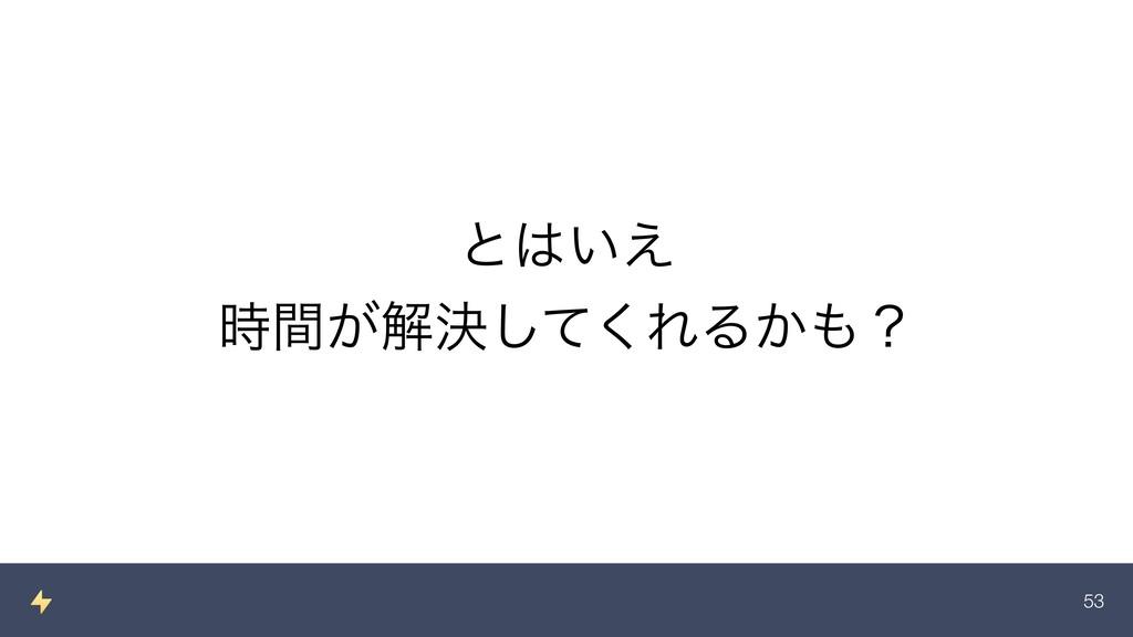 !53 ͱ͍͑ ͕ؒղܾͯ͘͠ΕΔ͔ʁ