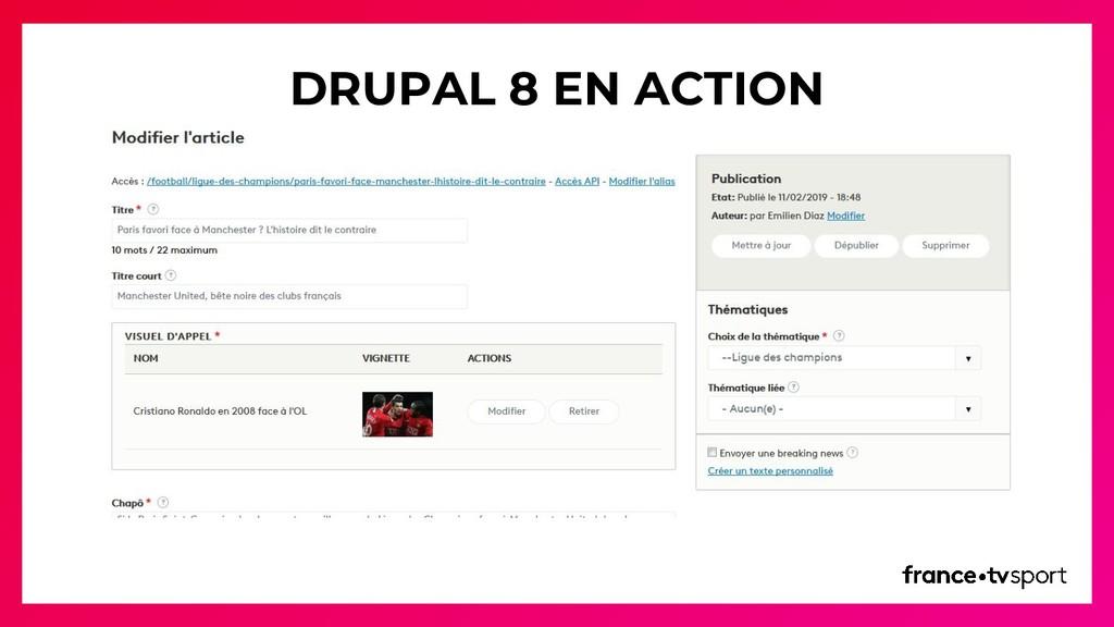 DRUPAL 8 EN ACTION
