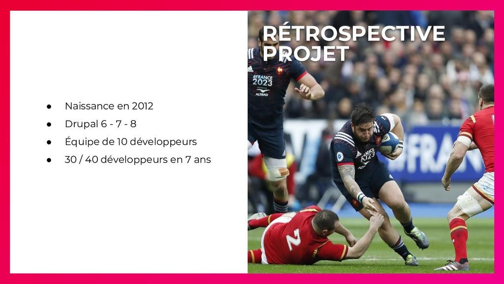● Naissance en 2012 ● Drupal 6 - 7 - 8 ● Équipe...