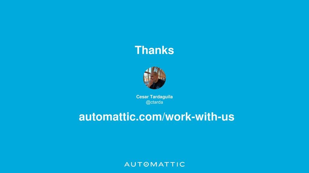 Thanks Cesar Tardaguila automattic.com/work-wit...