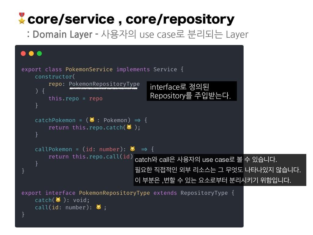 DPSFTFSWJDFDPSFSFQPTJUPSZ : Domain Layer -...