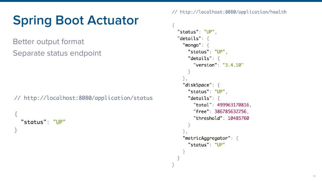 Spring Boot Actuator Better output format Separ...