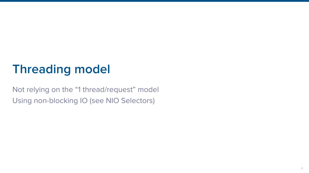 """Threading model Not relying on the """"1 thread/re..."""
