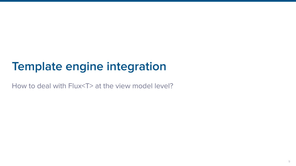 Template engine integration How to deal with Fl...