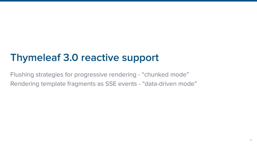 Thymeleaf 3.0 reactive support Flushing strateg...