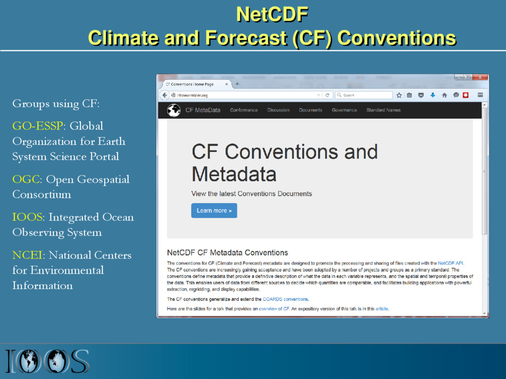 NetCDF Climate and Forecast (CF) Conventions Gr...