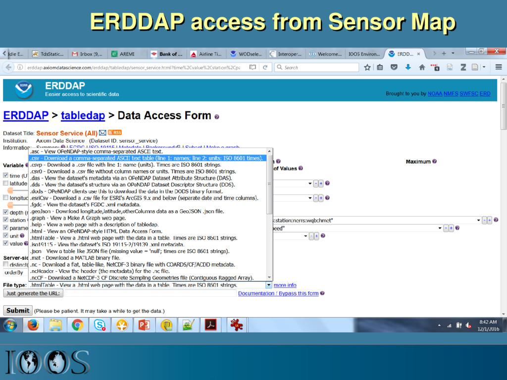 ERDDAP access from Sensor Map
