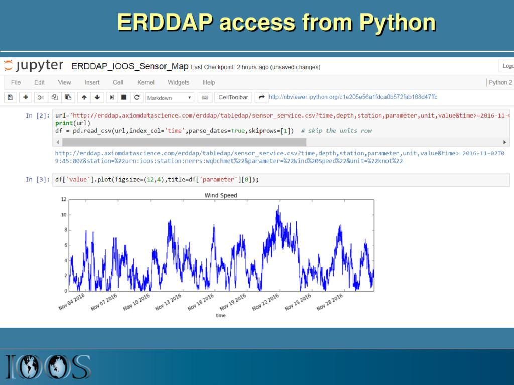 ERDDAP access from Python