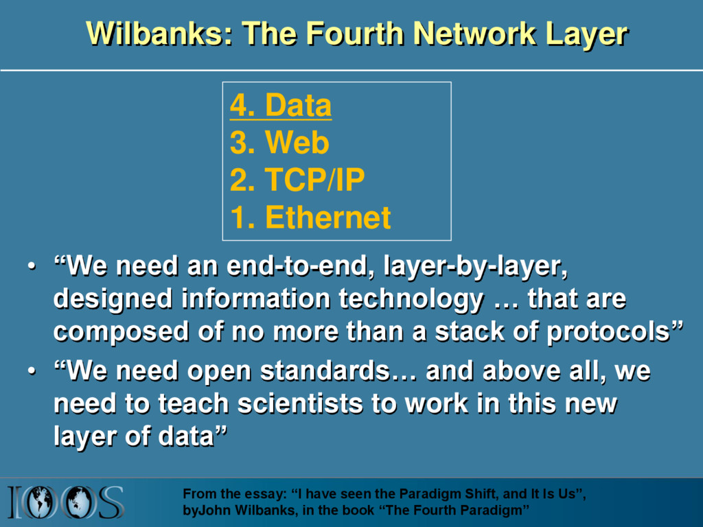 """Wilbanks: The Fourth Network Layer • """"We need a..."""