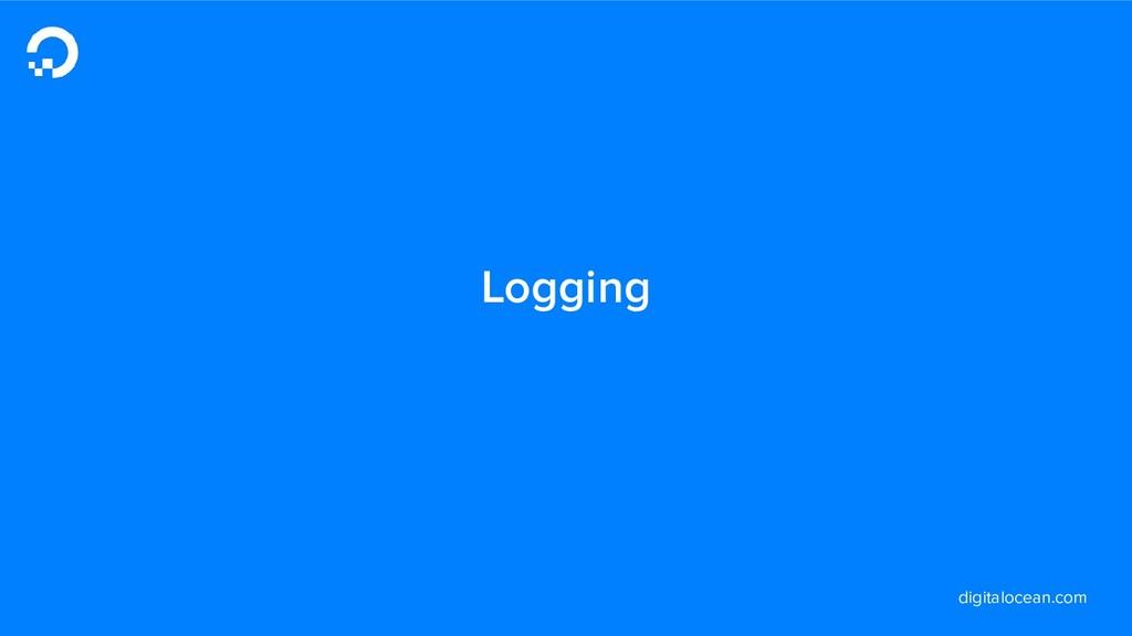 digitalocean.com Logging