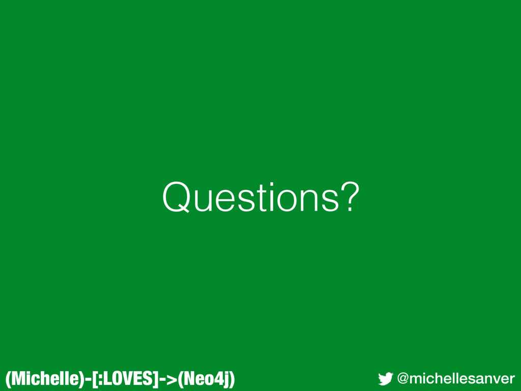 (Michelle)-[:LOVES]->(Neo4j) @michellesanver Qu...