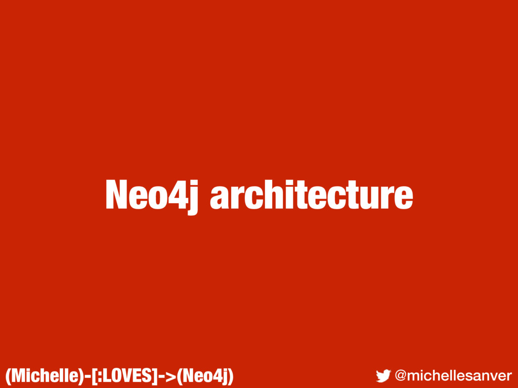 (Michelle)-[:LOVES]->(Neo4j) @michellesanver Ne...