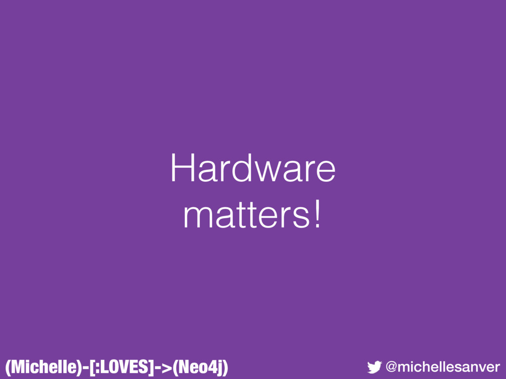 (Michelle)-[:LOVES]->(Neo4j) @michellesanver Ha...