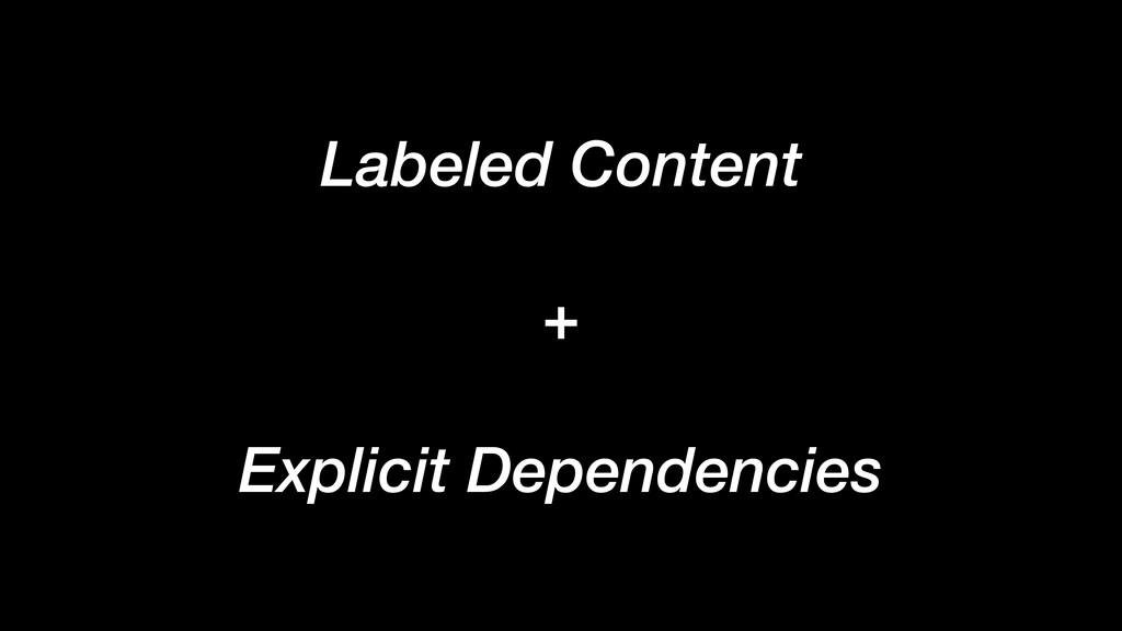 Labeled Content + Explicit Dependencies
