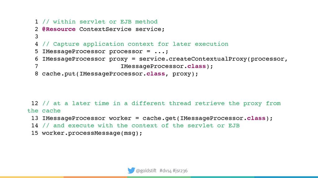1 // within servlet or EJB method 2 @Resource C...