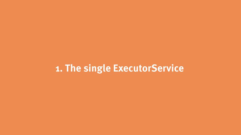 1. The single ExecutorService