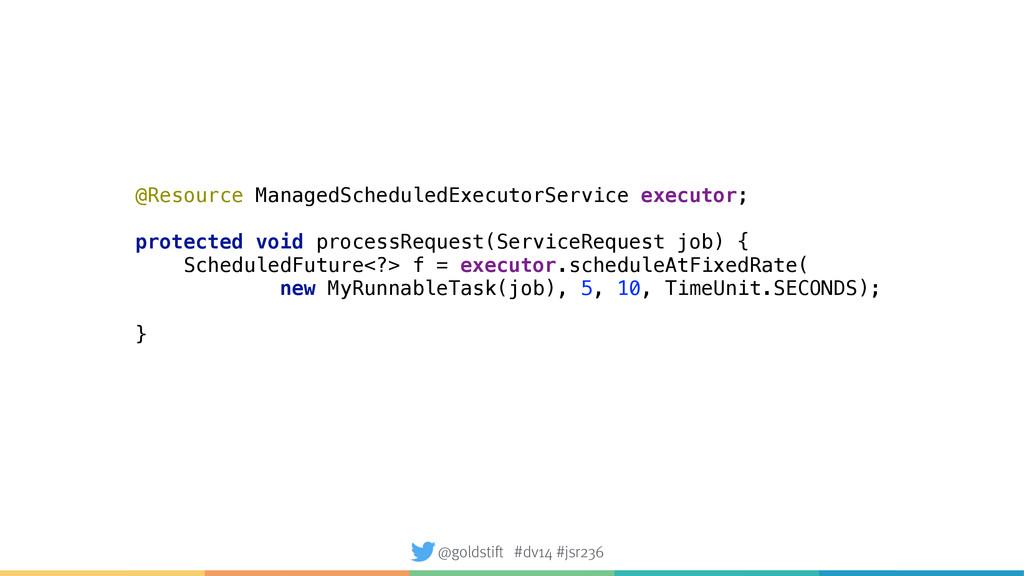 @Resource ManagedScheduledExecutorService execu...