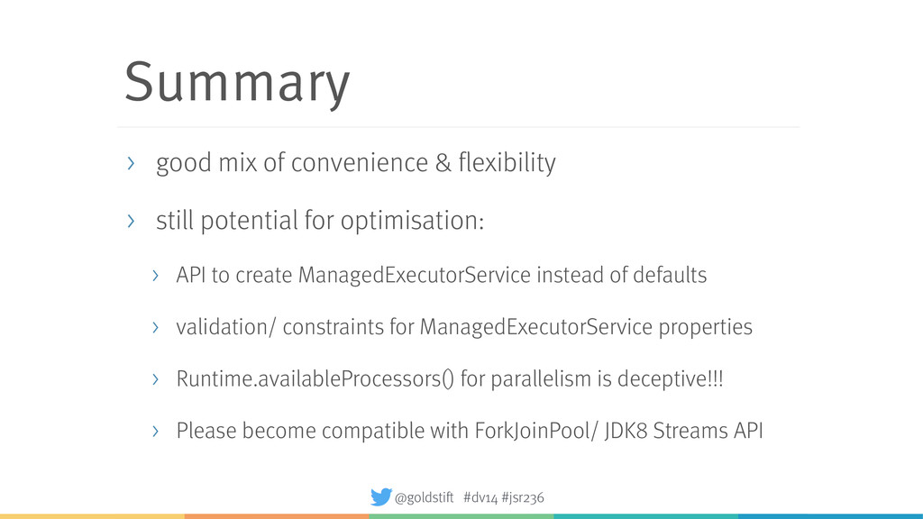 Summary > good mix of convenience & flexibility...