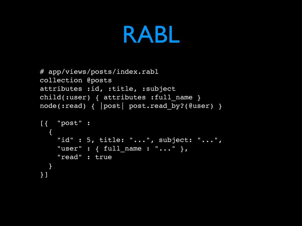 RABL # app/views/posts/index.rabl collection @p...